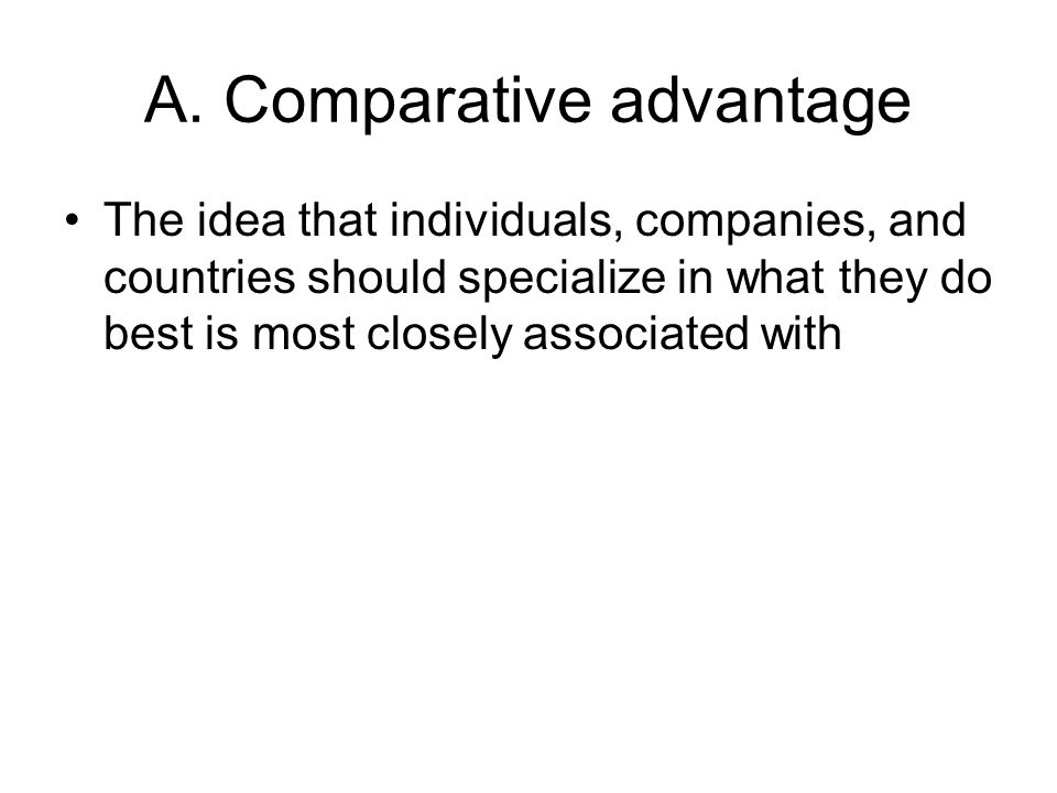 A. Comparative advantage