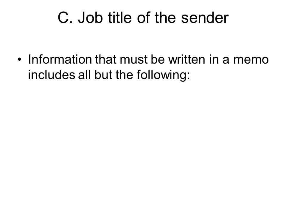 C. Job title of the sender