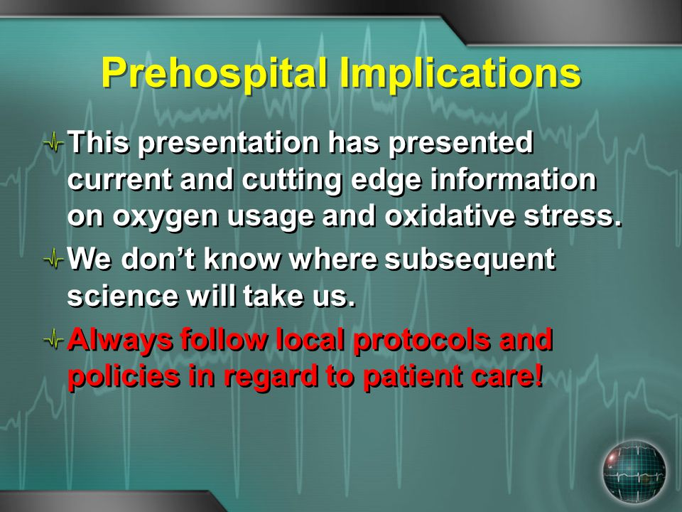 Prehospital Implications