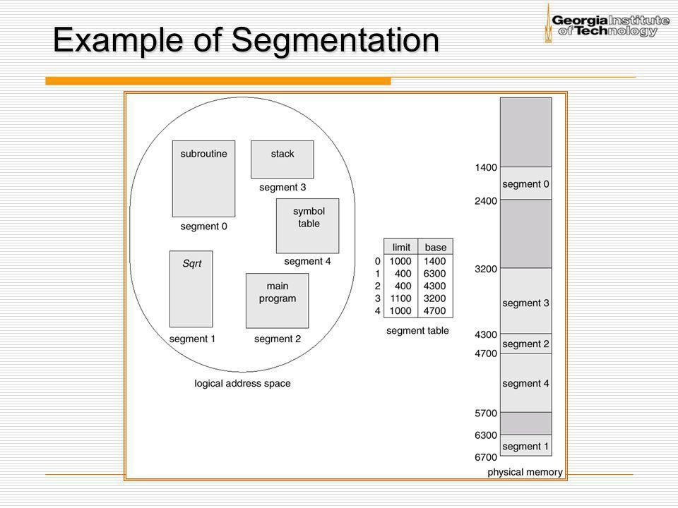 Example of Segmentation