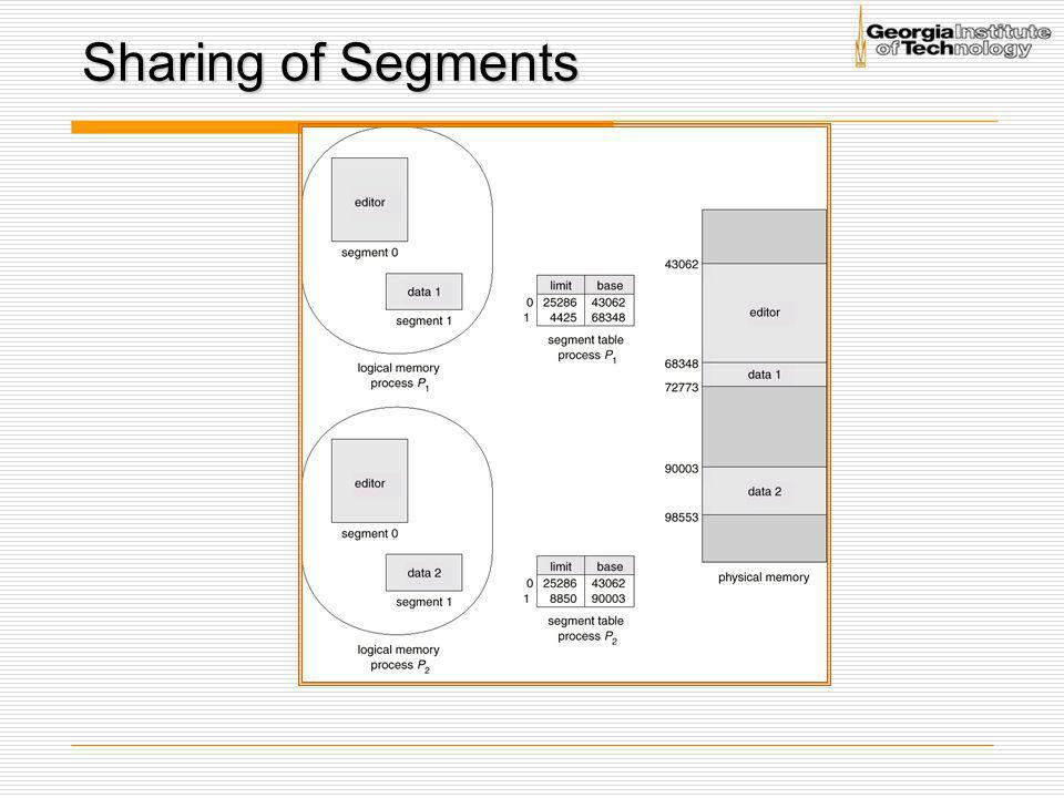 Sharing of Segments