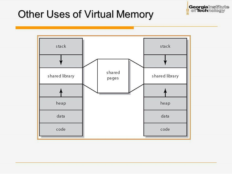 Other Uses of Virtual Memory