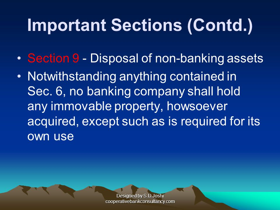 Important Sections (Contd.)
