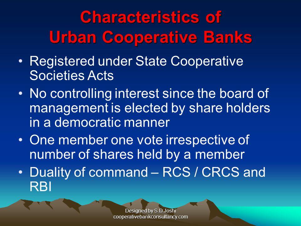 Characteristics of Urban Cooperative Banks