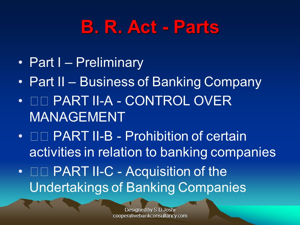 Designed by S.D.Joshi cooperativebankconsultancy.com