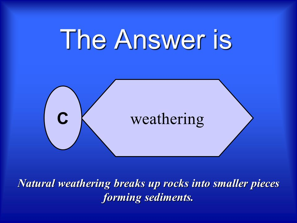 The Answer is weathering C