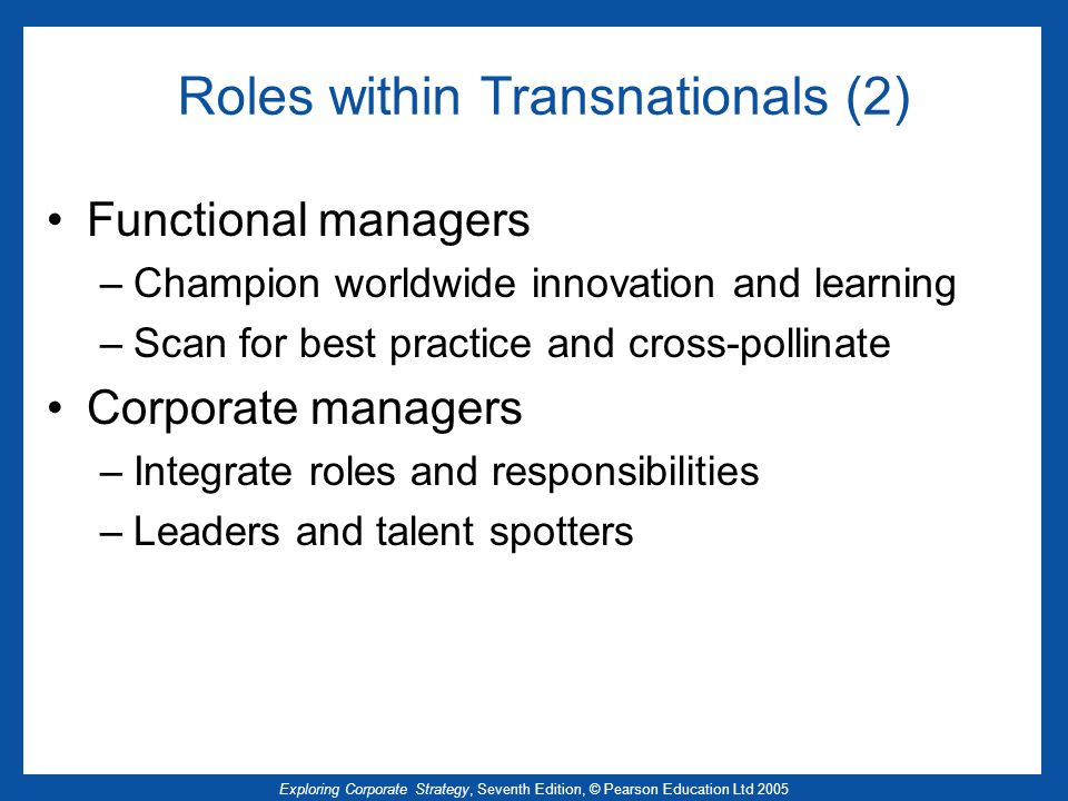 Roles within Transnationals (2)