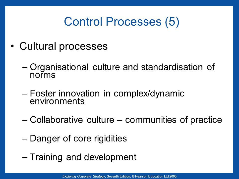 Control Processes (5) Cultural processes