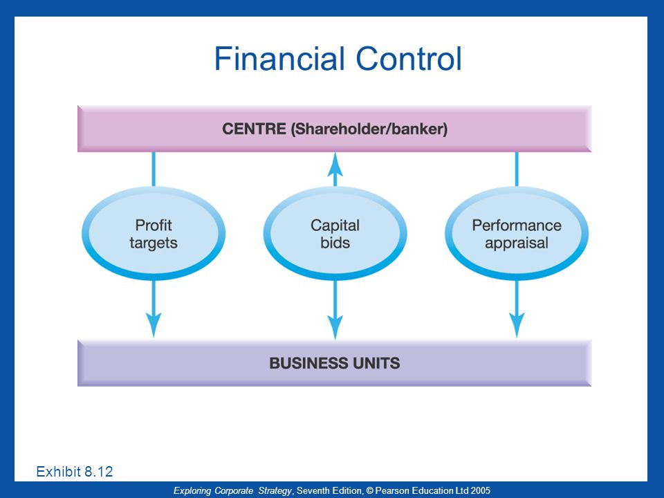 Financial Control Exhibit 8.12