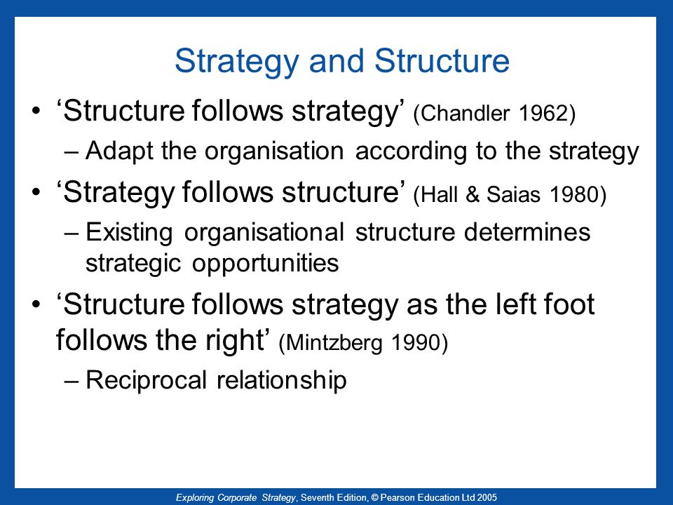 hall and saias strategy follows structure This view was countered by david hall and maurice saias in their essay, strategy follows structure they argued that structure,.