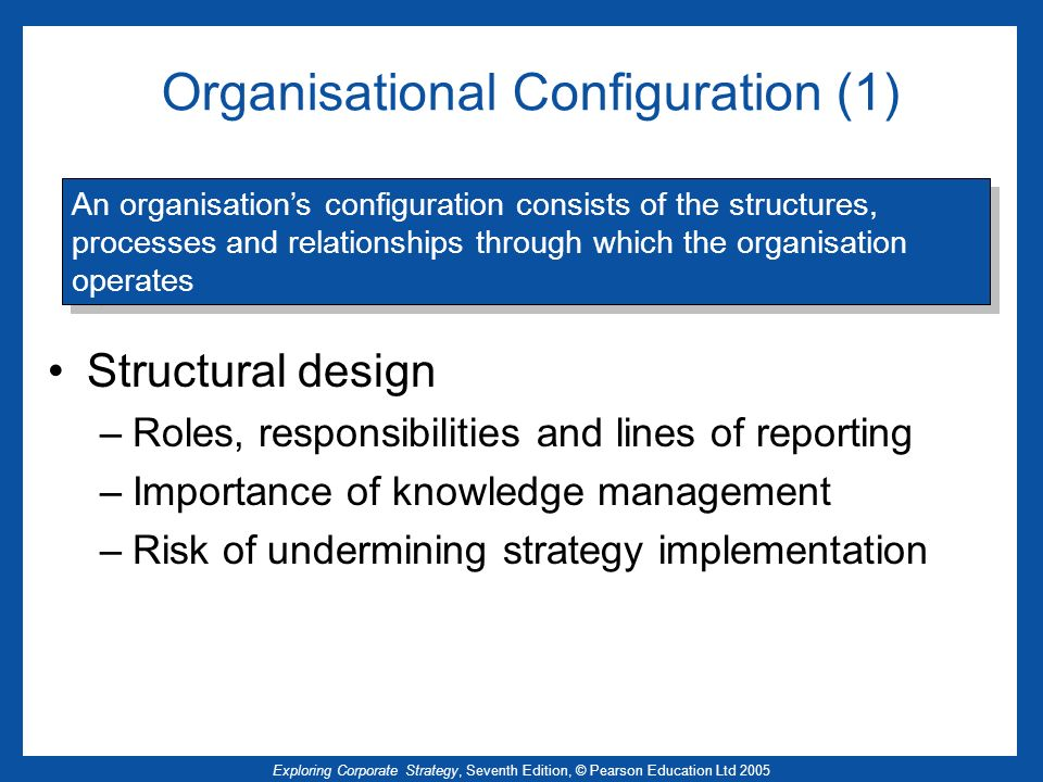 Organisational Configuration (1)