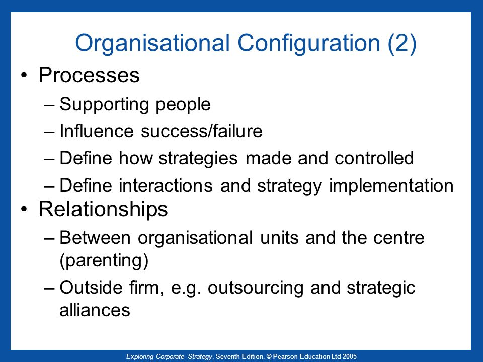 Organisational Configuration (2)