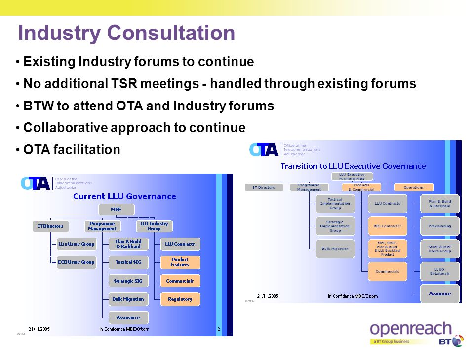 Industry Consultation
