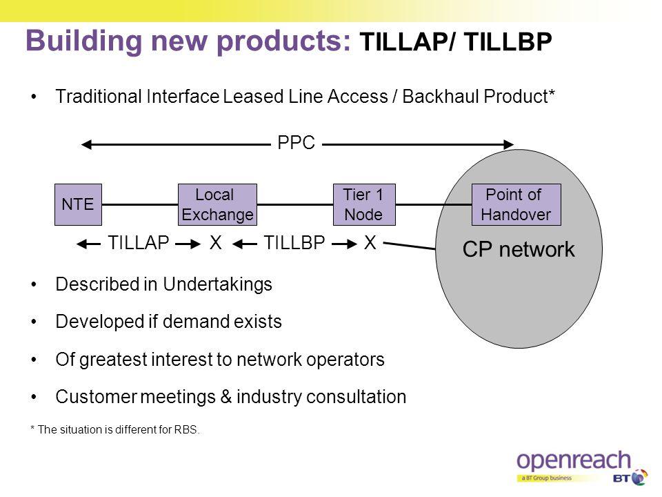 Building new products: TILLAP/ TILLBP