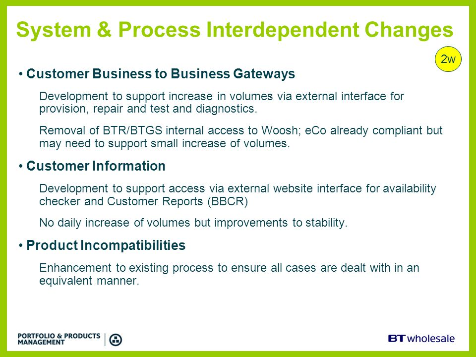 System & Process Interdependent Changes