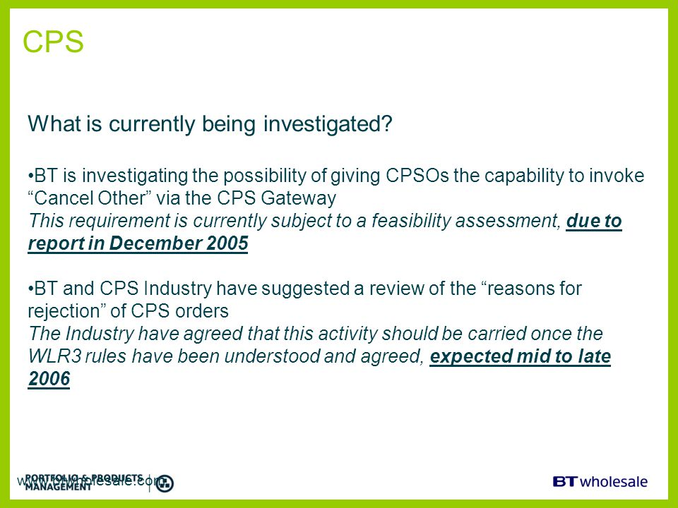 CPS What is currently being investigated