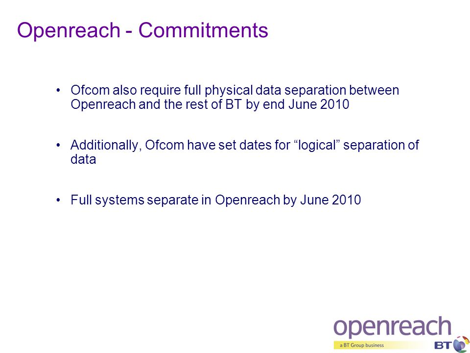 Openreach - Commitments