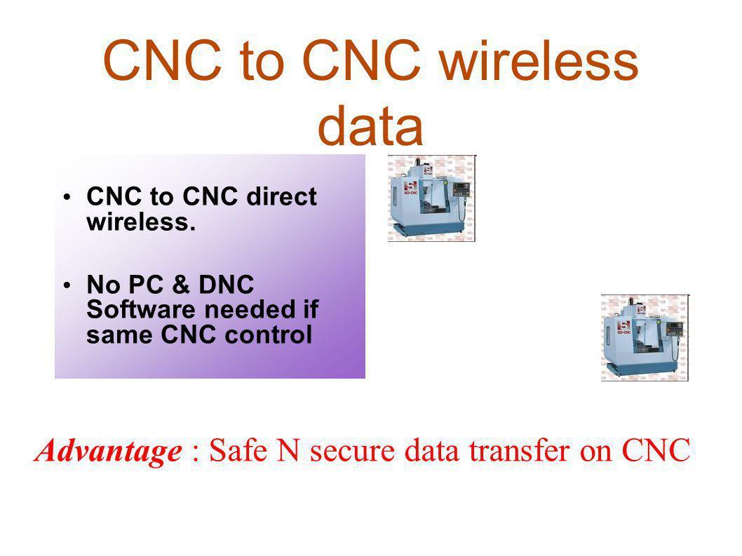CNC to CNC wireless data