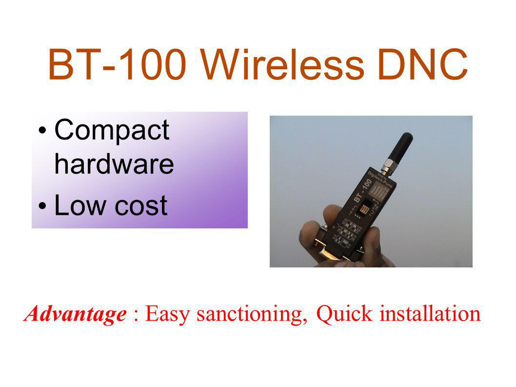 BT-100 Wireless DNC Compact hardware Low cost