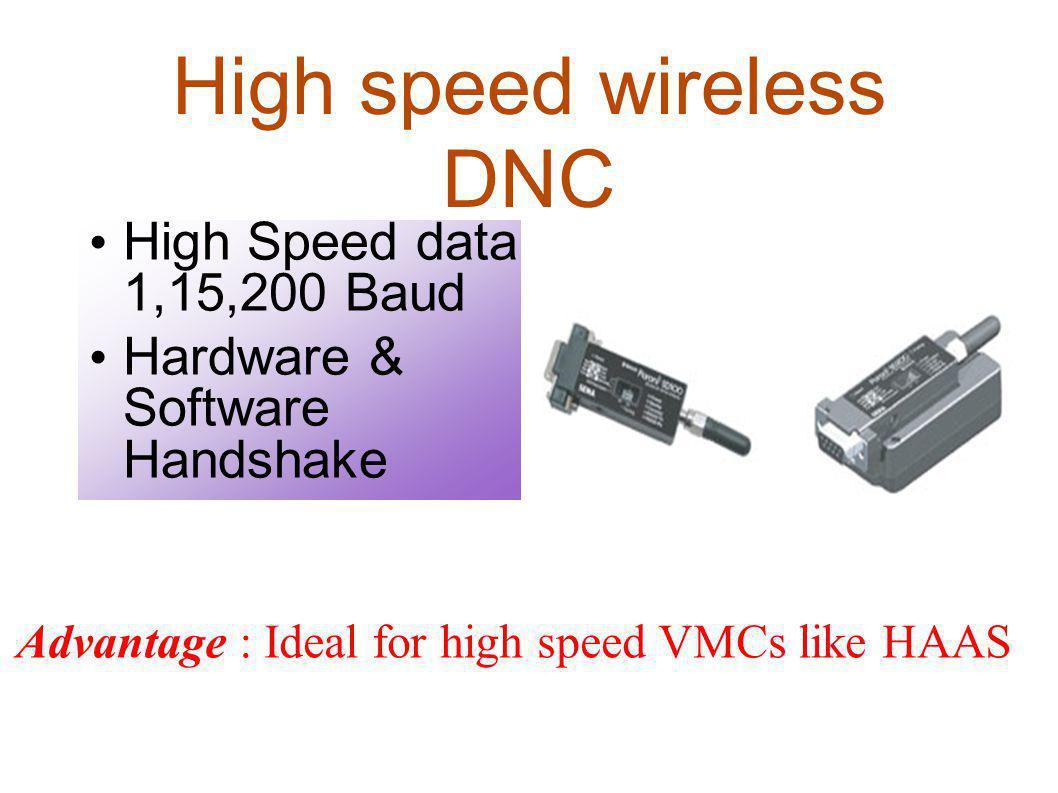 High speed wireless DNC