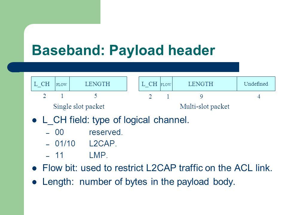 Baseband: Payload header
