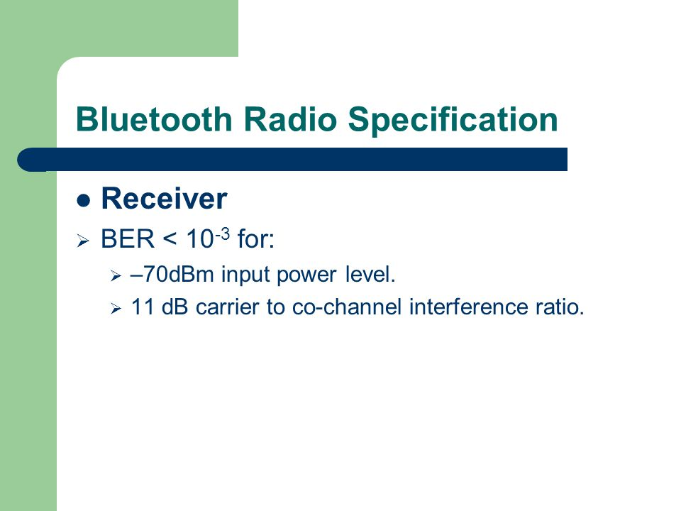 Bluetooth Radio Specification
