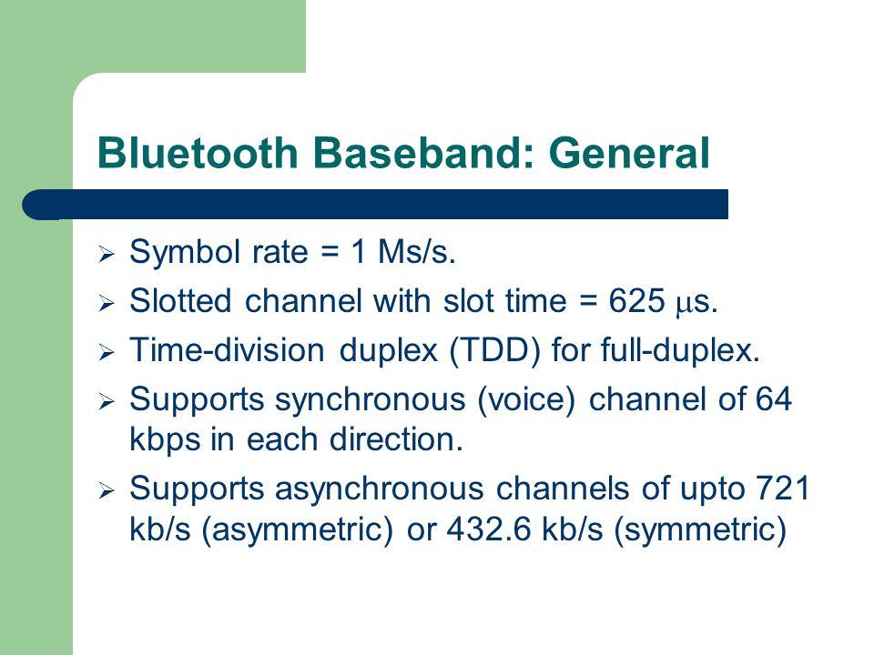 Bluetooth Baseband: General