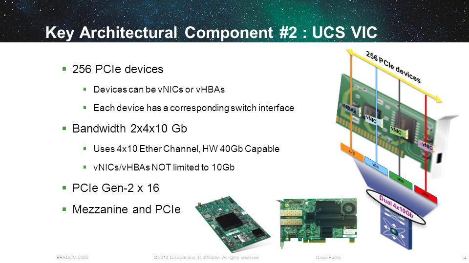 Key Architectural Component #2 : UCS VIC