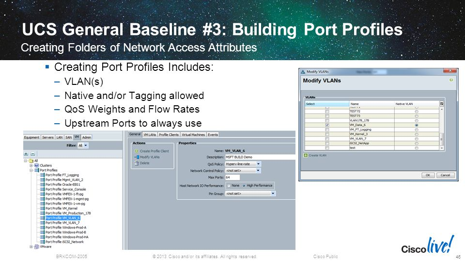 UCS General Baseline #3: Building Port Profiles