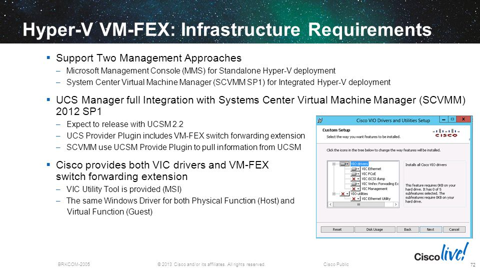 Hyper-V VM-FEX: Infrastructure Requirements