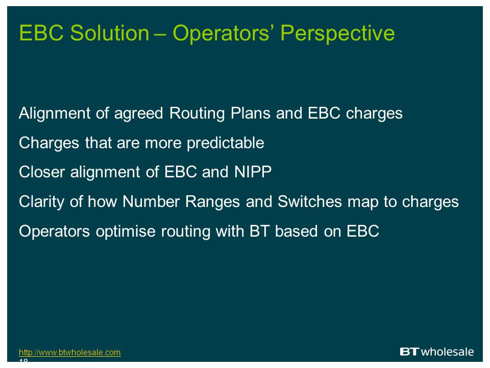 EBC Solution – Operators' Perspective