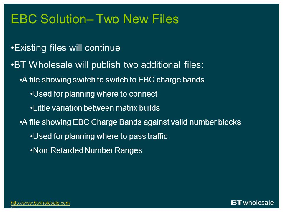 EBC Solution– Two New Files