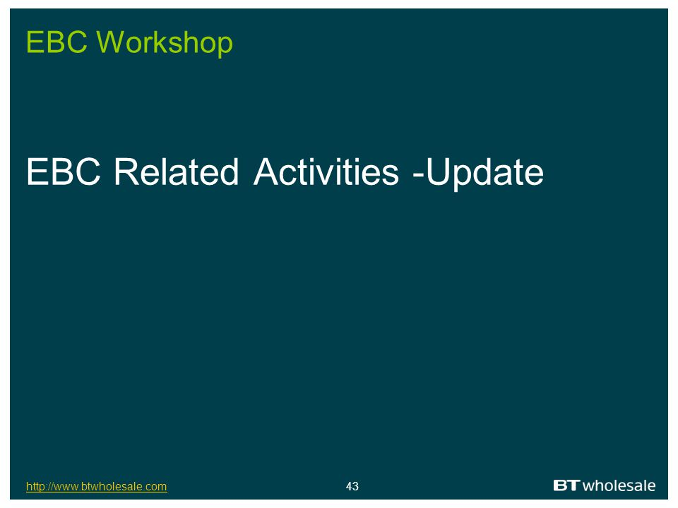 EBC Related Activities -Update