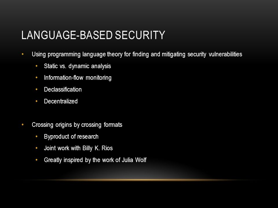 Language-based security