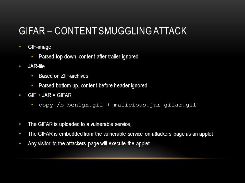 GIFar – Content smuggling attack