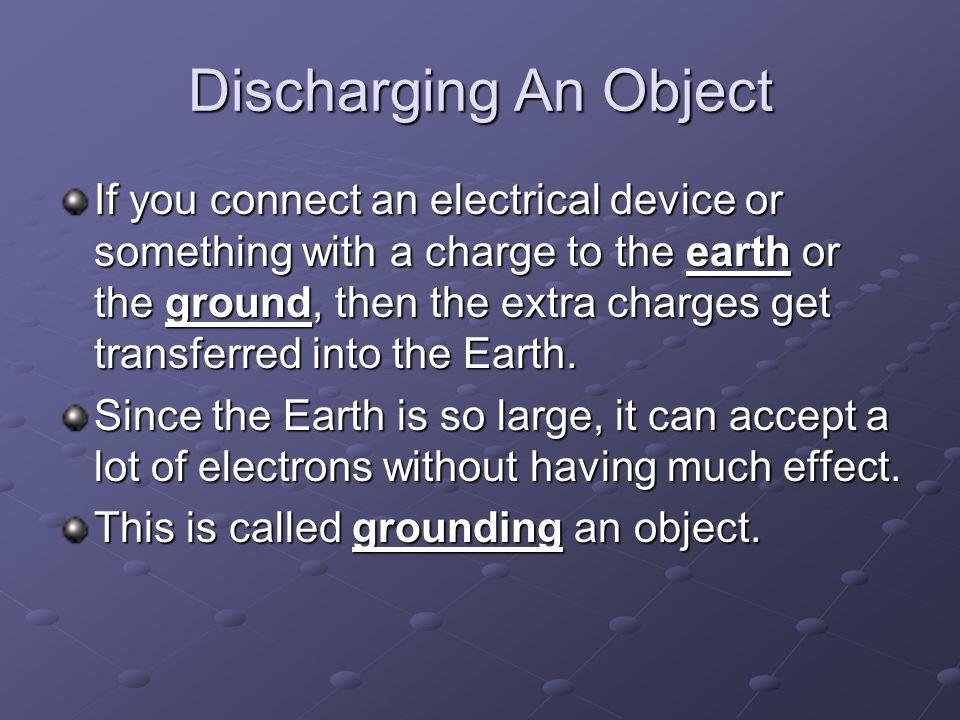 Discharging An Object