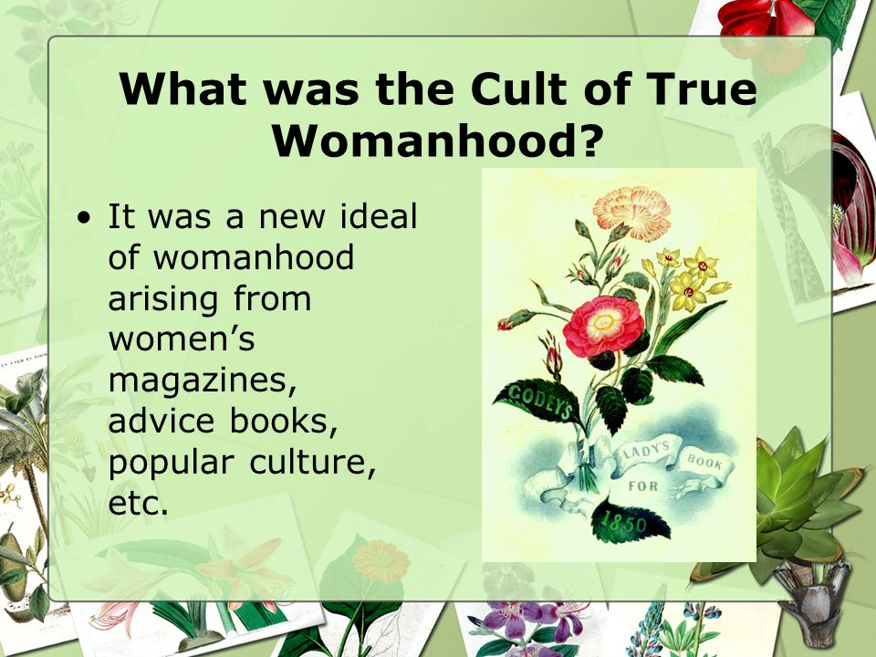 What was the Cult of True Womanhood