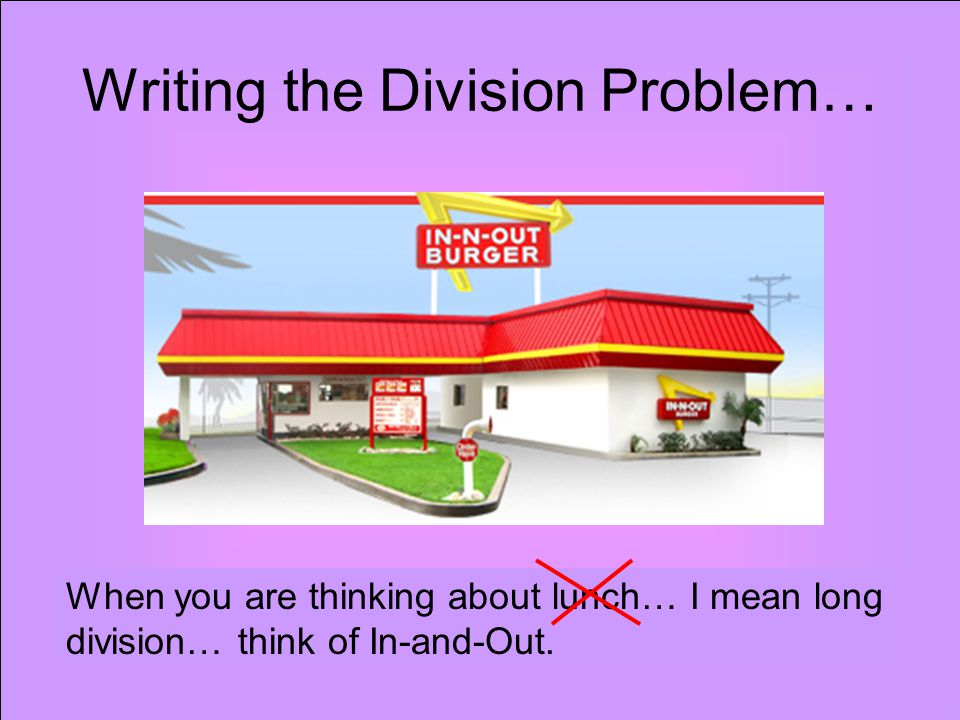 Writing the Division Problem…