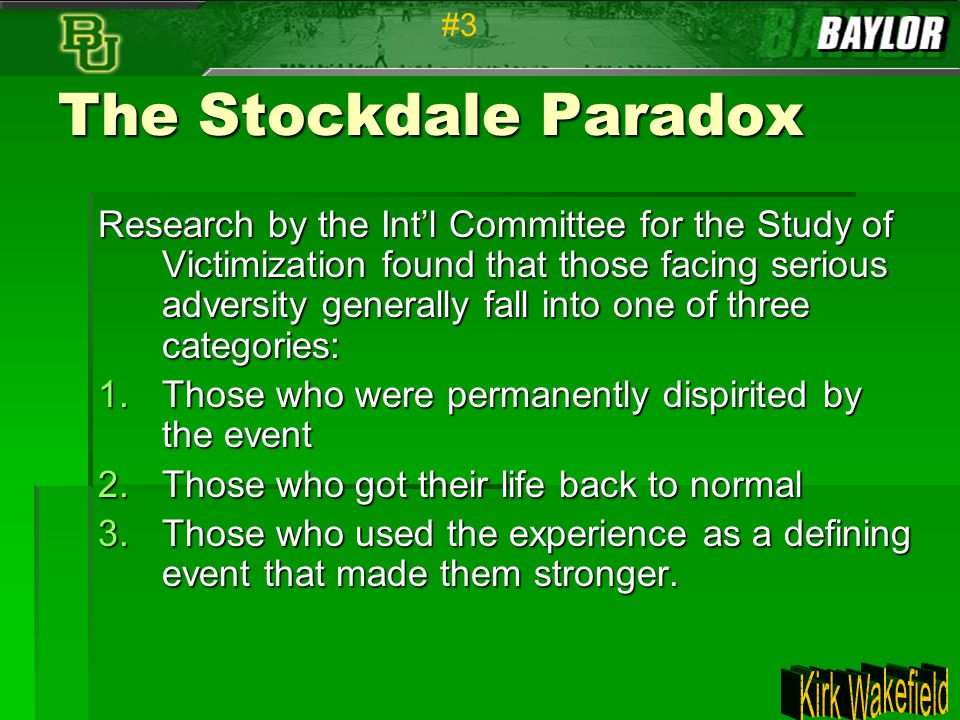 #3 The Stockdale Paradox.
