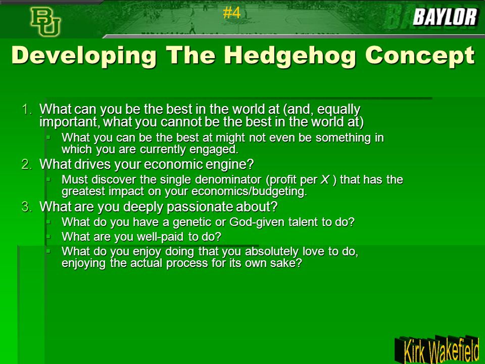 Developing The Hedgehog Concept