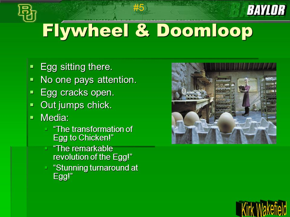 Flywheel & Doomloop #5 Egg sitting there. No one pays attention.