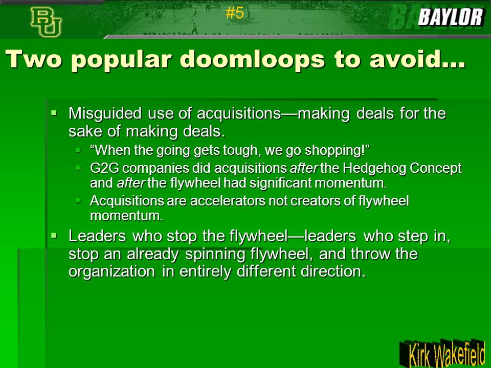 Two popular doomloops to avoid…