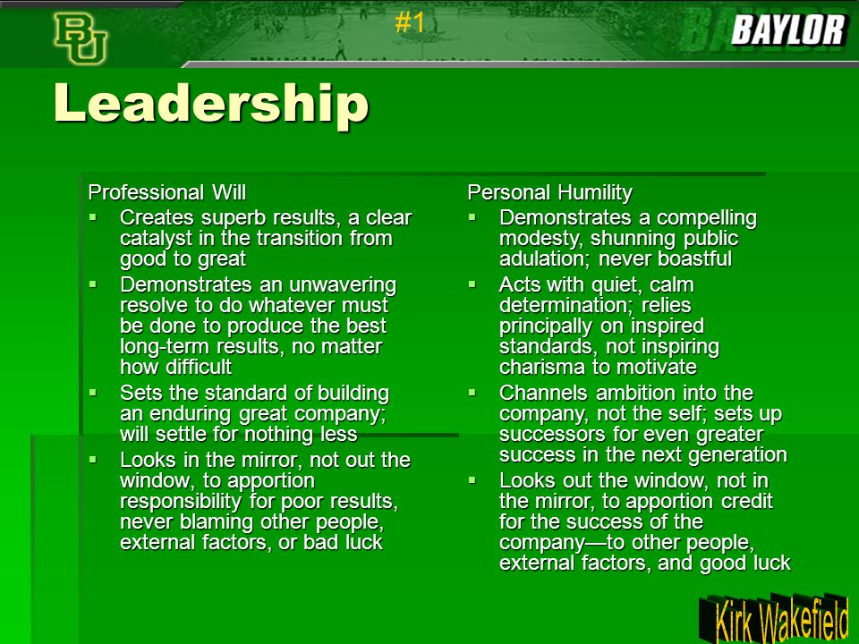 Leadership #1 Professional Will