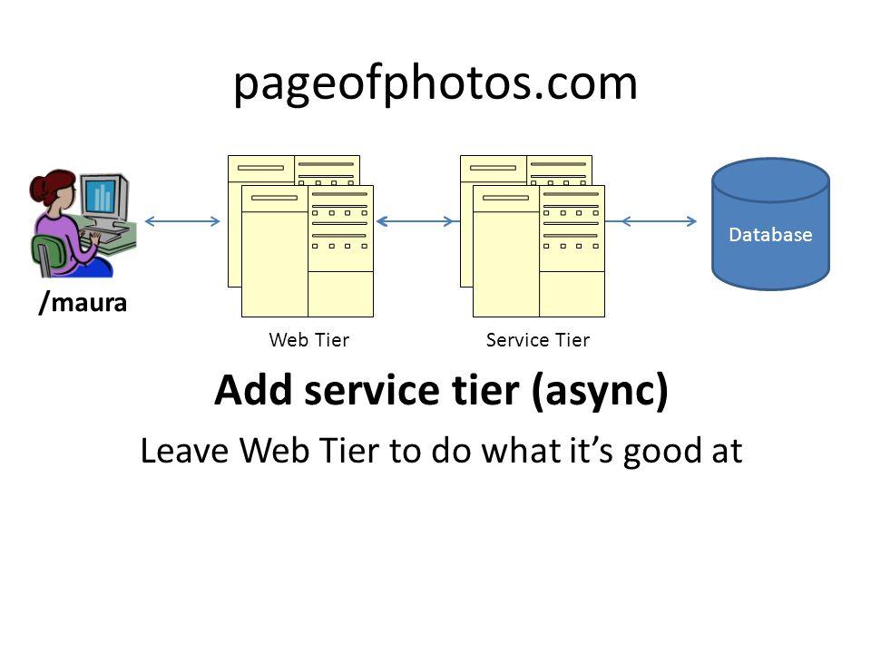 Add service tier (async)