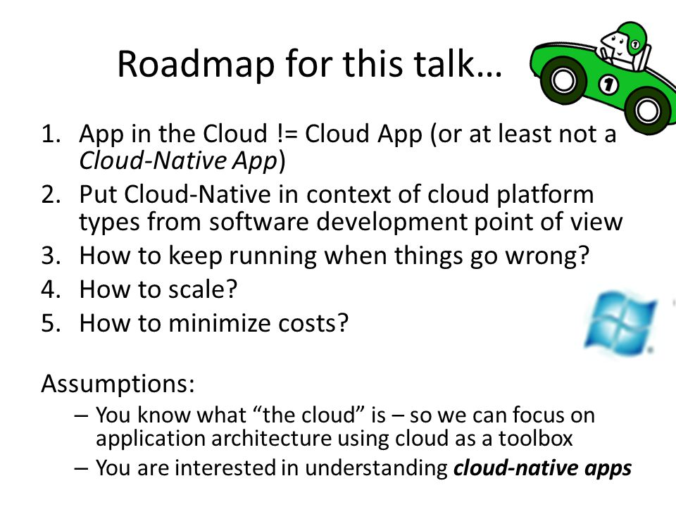 Roadmap for this talk… …