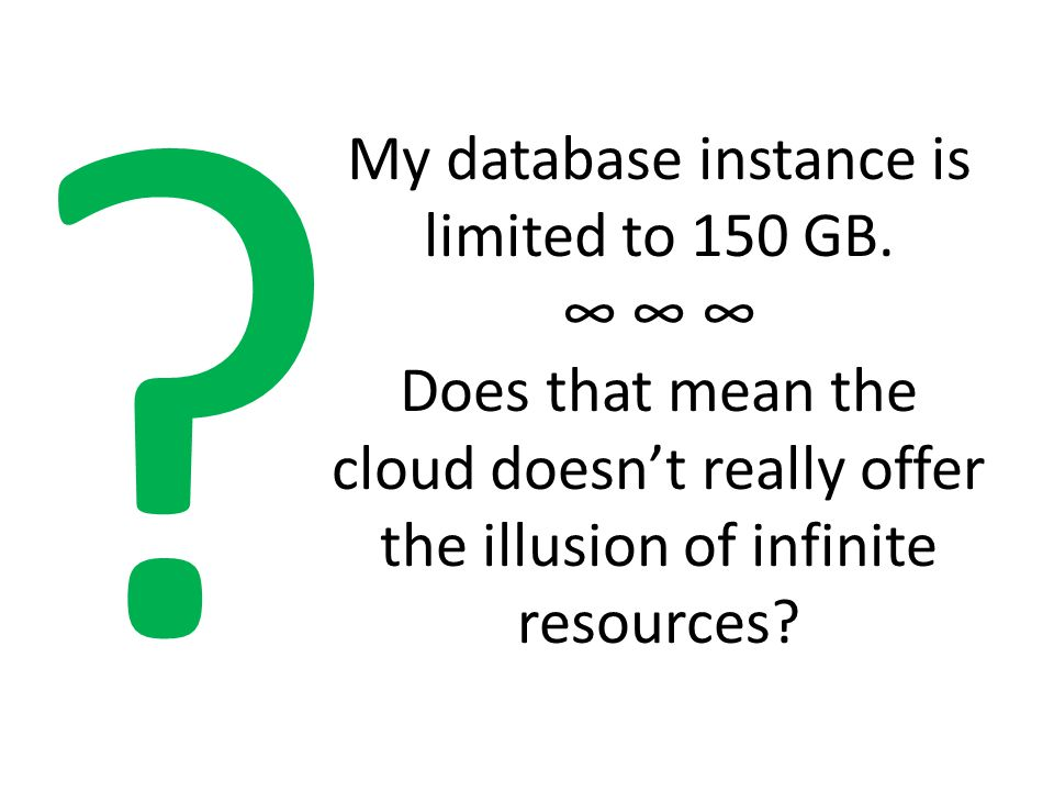 My database instance is limited to 150 GB.