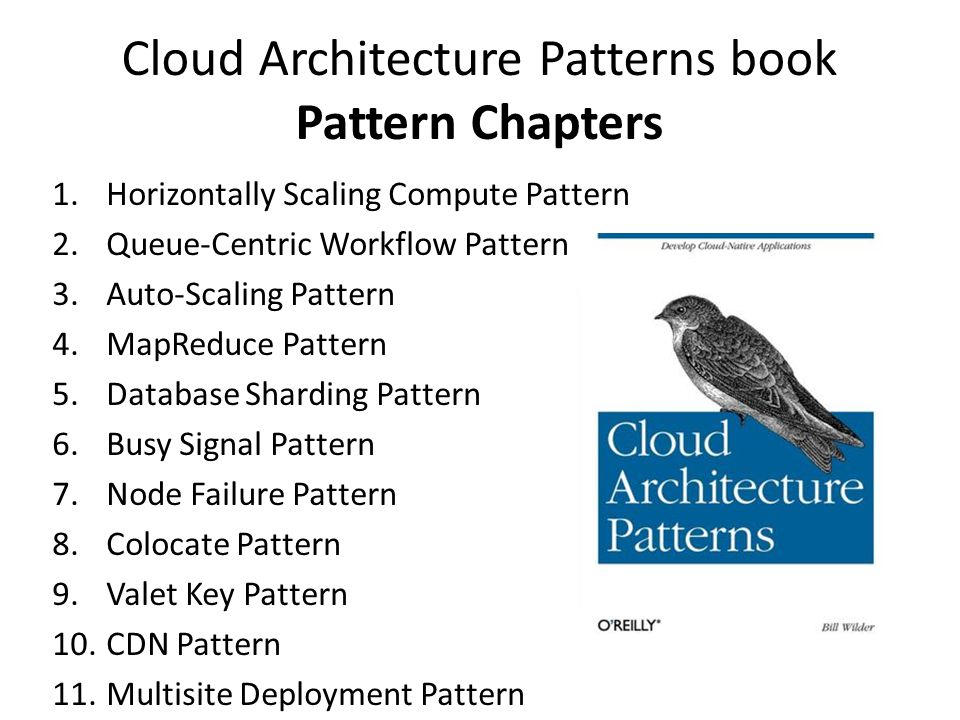 Cloud Architecture Patterns book Pattern Chapters