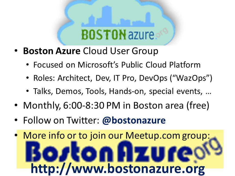 BostonAzure.org http://www.bostonazure.org