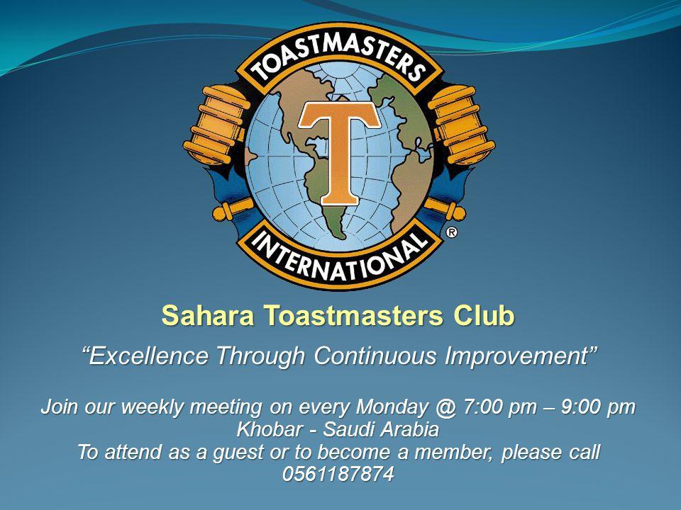 Sahara Toastmasters Club