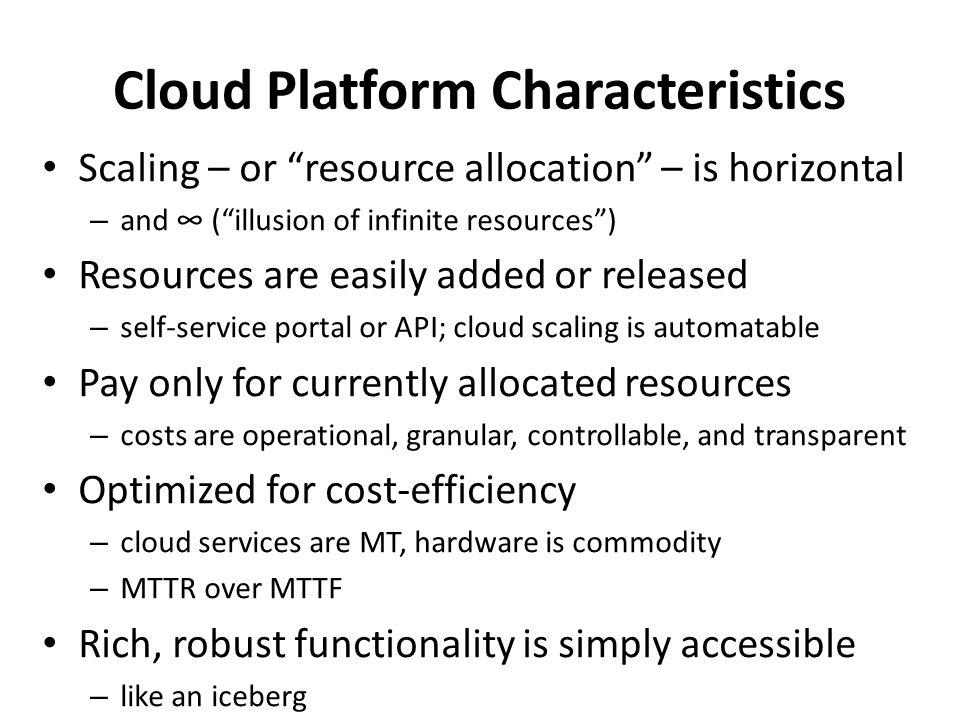 Cloud Platform Characteristics